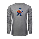 Grey Long Sleeve T Shirt-Mascot