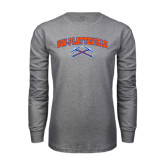 Grey Long Sleeve T Shirt-Arched UW-Platteville