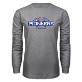 Grey Long Sleeve T Shirt-Pioneers Wrestling