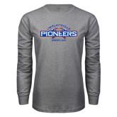 Grey Long Sleeve T Shirt-Pioneers Wrestling