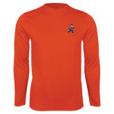 Syntrel Performance Orange Longsleeve Shirt-Mascot
