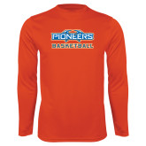 Syntrel Performance Orange Longsleeve Shirt-Pioneers Basketball