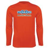 Performance Orange Longsleeve Shirt-Pioneers Basketball
