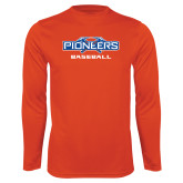 Syntrel Performance Orange Longsleeve Shirt-Baseball