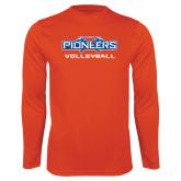 Performance Orange Longsleeve Shirt-Volleyball