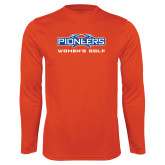 Syntrel Performance Orange Longsleeve Shirt-Womens Golf