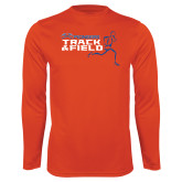 Syntrel Performance Orange Longsleeve Shirt-Track and Field Runner Design