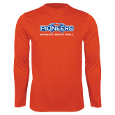 Syntrel Performance Orange Longsleeve Shirt-Womens Basketball