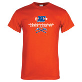 Orange T Shirt-Stacked Cross Country Design