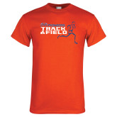 Orange T Shirt-Track and Field Runner Design