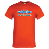 Orange T Shirt-Pioneers Basketball