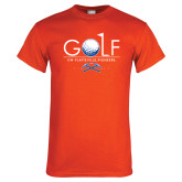 Orange T Shirt-Stacked Golf Design