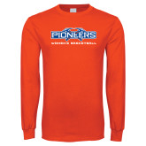 Orange Long Sleeve T Shirt-Womens Basketball
