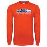 Orange Long Sleeve T Shirt-Womens Soccer