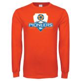 Orange Long Sleeve T Shirt-Mens Soccer Shield