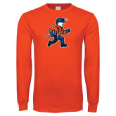 Orange Long Sleeve T Shirt-Mascot