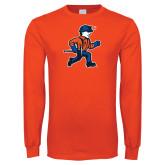 Orange Long Sleeve T Shirt-Mascot