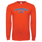 Orange Long Sleeve T Shirt-Arched UW-Platteville