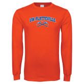 Orange Long Sleeve T Shirt-Arched UW-Platteville