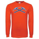 Orange Long Sleeve T Shirt-Crossed Axes