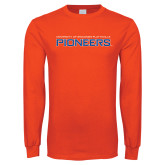 Orange Long Sleeve T Shirt-Wordmark