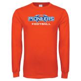 Orange Long Sleeve T Shirt-Football