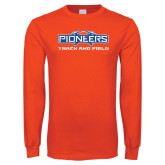 Orange Long Sleeve T Shirt-Track and Field