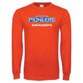 Orange Long Sleeve T Shirt-Grandpa