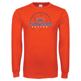 Orange Long Sleeve T Shirt-Soccer Ball Design