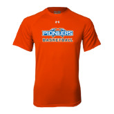 Under Armour Orange Tech Tee-Pioneers Basketball