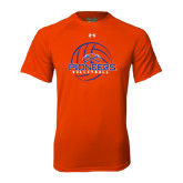Under Armour Orange Tech Tee-Volleyball Design
