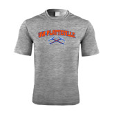 Performance Grey Heather Contender Tee-Arched UW-Platteville