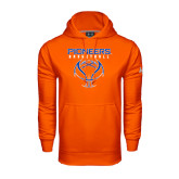 Under Armour Orange Performance Sweats Team Hoodie-Stacked Basketball Design