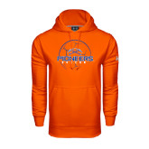 Under Armour Orange Performance Sweats Team Hoodie-Soccer Ball Design