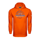 Under Armour Orange Performance Sweats Team Hoodie-Volleyball Design