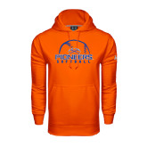 Under Armour Orange Performance Sweats Team Hoodie-Softball Design