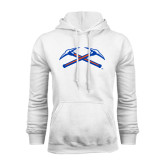 White Fleece Hoodie-Crossed Axes