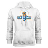 White Fleece Hoodie-Mens Soccer Shield