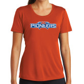 Ladies Syntrel Performance Orange Tee-Official Logo