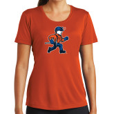 Ladies Syntrel Performance Orange Tee-Mascot