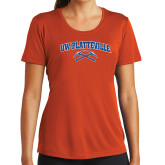 Ladies Syntrel Performance Orange Tee-Arched UW-Platteville