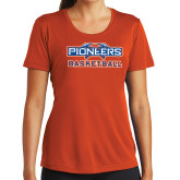 Ladies Syntrel Performance Orange Tee-Pioneers Basketball
