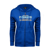 ENZA Ladies Royal Fleece Full Zip Hoodie-Pioneers Basketball