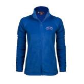 Ladies Fleece Full Zip Royal Jacket-Crossed Axes