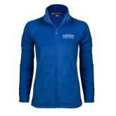 Ladies Fleece Full Zip Royal Jacket-Womens Soccer