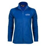 Ladies Fleece Full Zip Royal Jacket-Womens Soccer