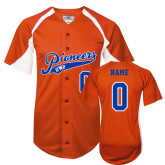 Replica Orange Adult Baseball Jersey-Personalized