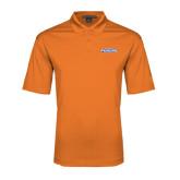 Orange Performance Fine Jacquard Polo-Official Logo