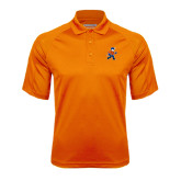 Orange Textured Saddle Shoulder Polo-Mascot
