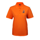 Ladies Easycare Orange Pique Polo-Mascot